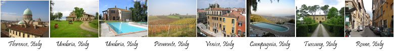 Holidays and accommodation in Europe, France, Provence and Italy